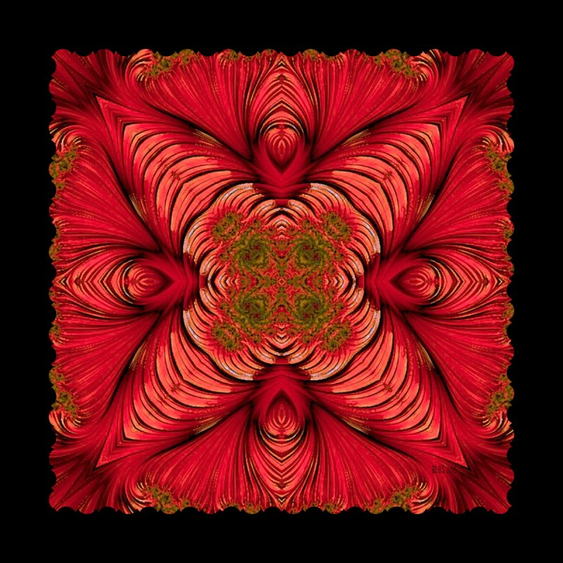 Red Fractal Star by Barbara Storey Digital Art