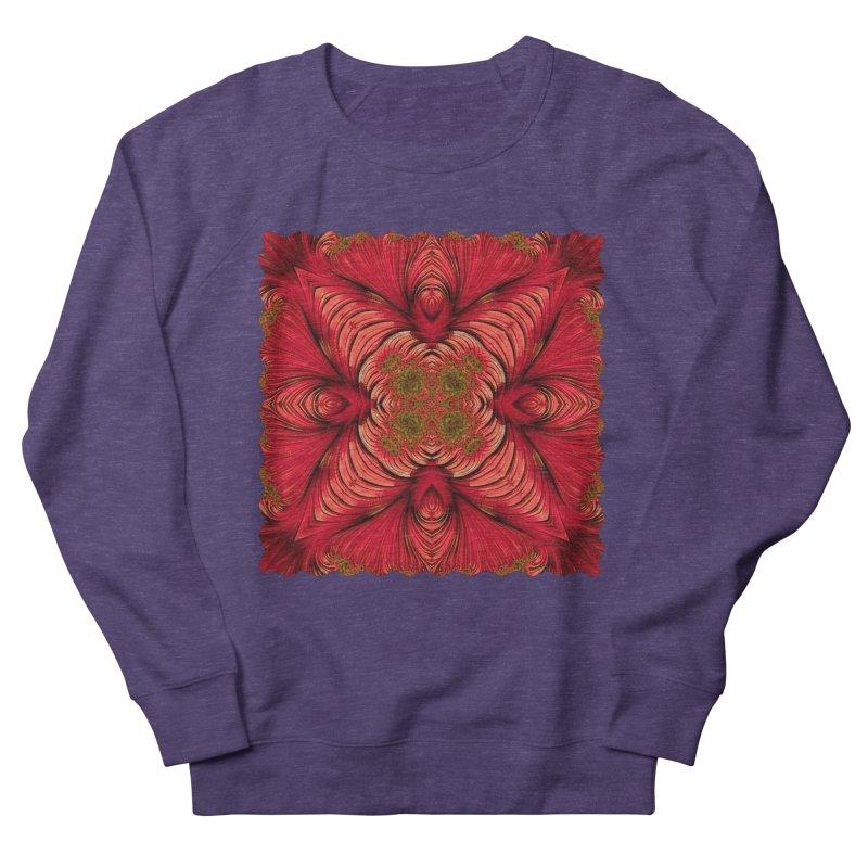 Red Fractal Star Women's Sweatshirt by Barbara Storey Digital Art