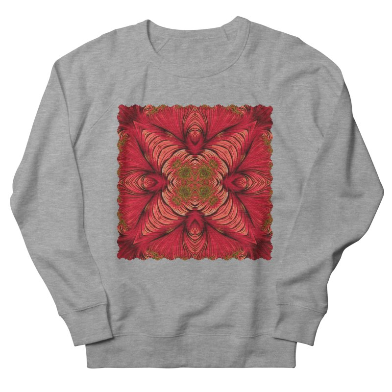 Red Fractal Star Men's Sweatshirt by Barbara Storey Digital Art