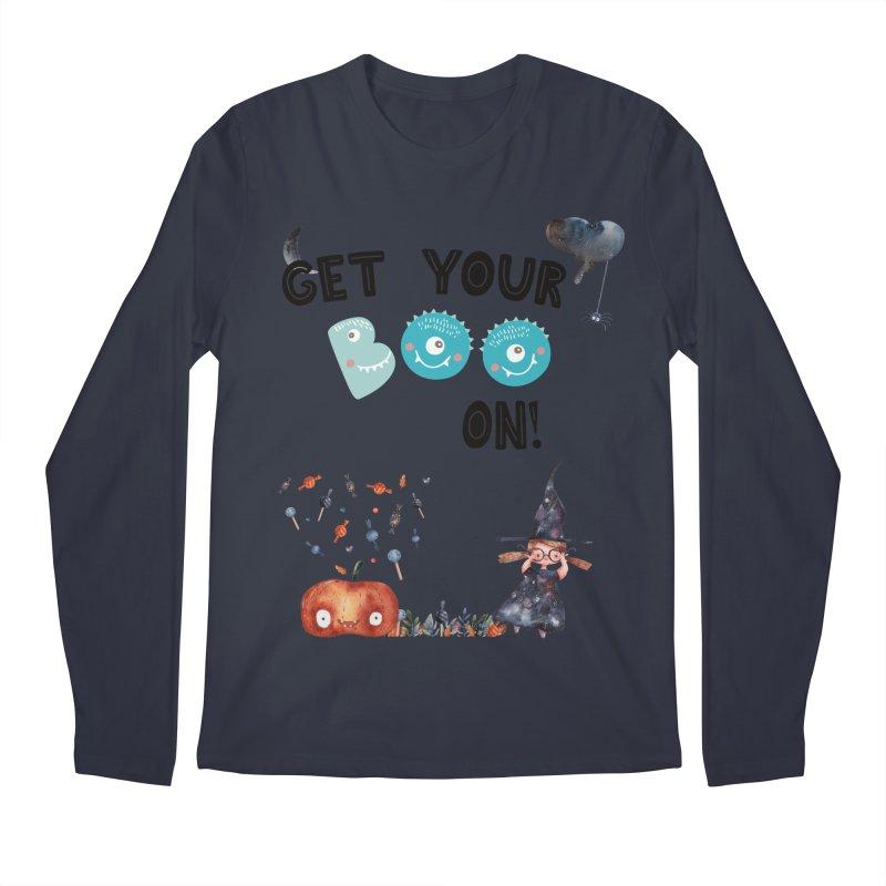 Get Your Boo On! Men's Longsleeve T-Shirt by Barbara Storey Digital Art