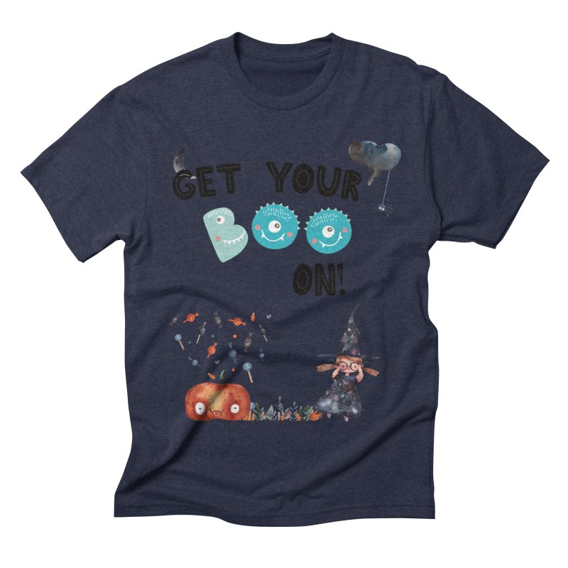 Get Your Boo On! Men's Triblend T-shirt by Barbara Storey Digital Art