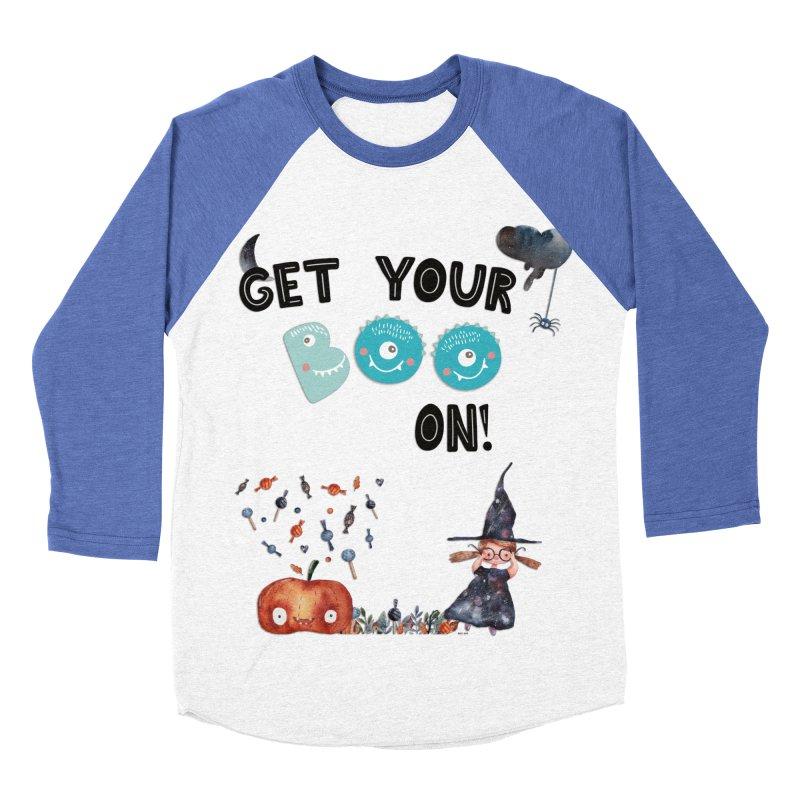 Get Your Boo On! Women's Baseball Triblend T-Shirt by Barbara Storey Digital Art