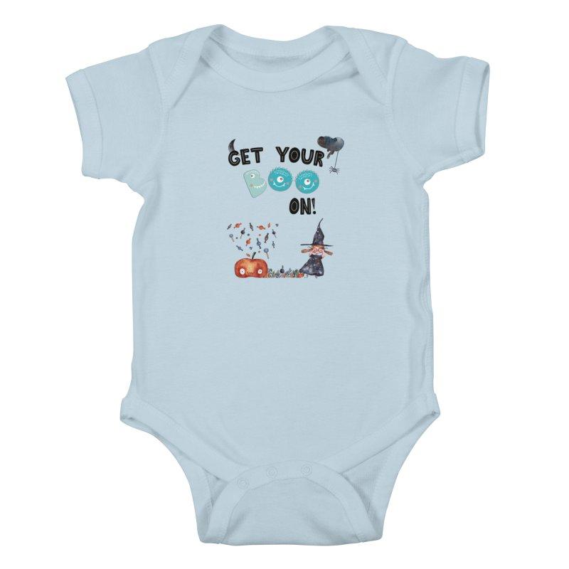 Get Your Boo On! Kids Baby Bodysuit by Barbara Storey Digital Art