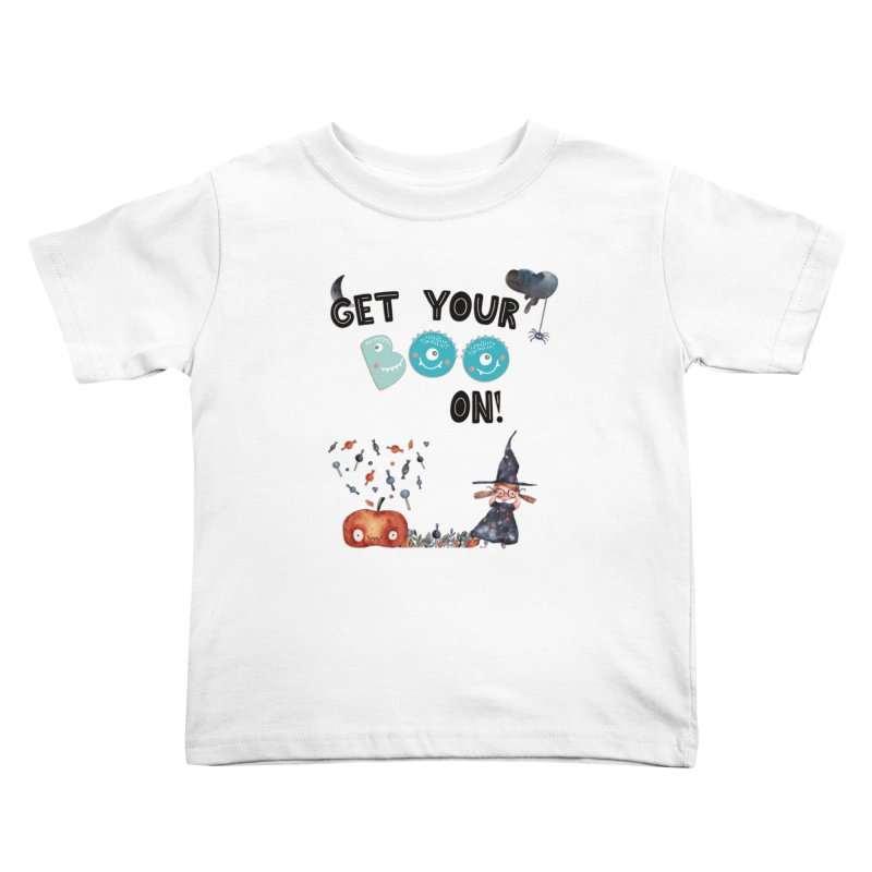 Get Your Boo On! Kids Toddler T-Shirt by Barbara Storey Digital Art