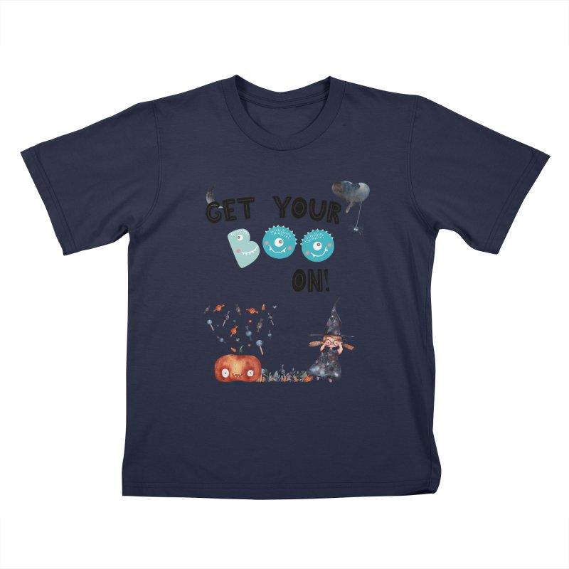 Get Your Boo On! Kids T-Shirt by Barbara Storey Digital Art