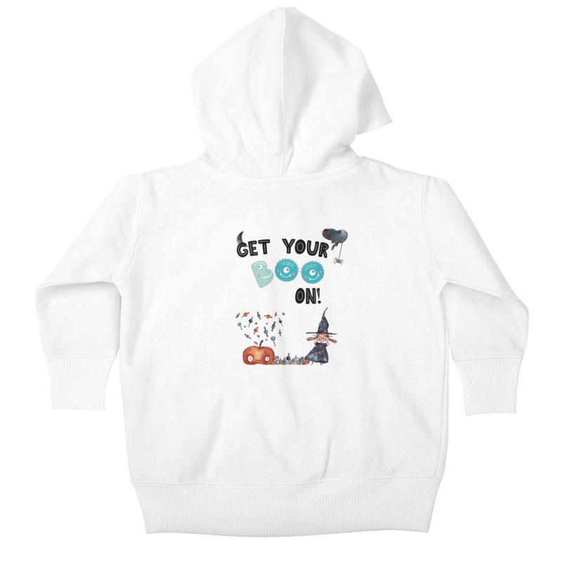 Get Your Boo On! Kids Baby Zip-Up Hoody by Barbara Storey Digital Art