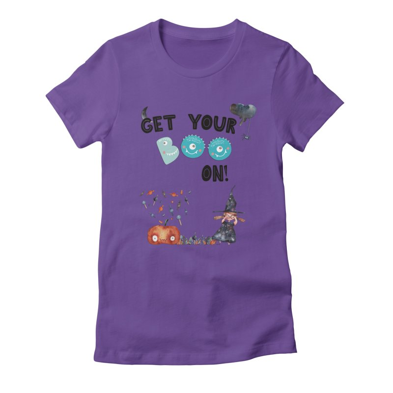 Get Your Boo On! Women's Fitted T-Shirt by Barbara Storey Digital Art