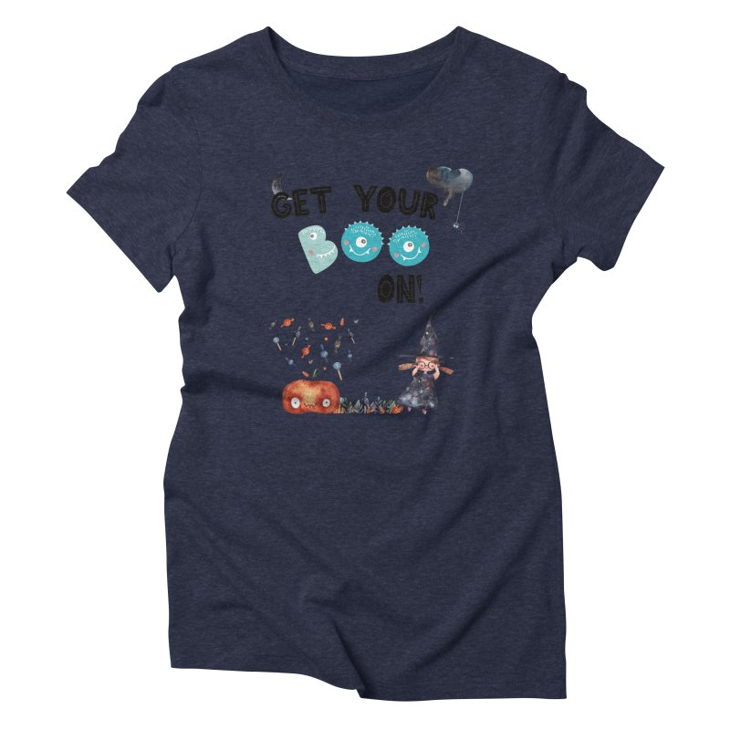 Get Your Boo On! Women's Triblend T-shirt by Barbara Storey Digital Art