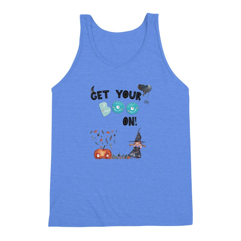 Get Your Boo On! Men's Triblend Tank by Barbara Storey Digital Art