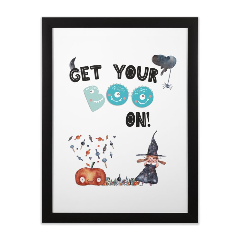 Get Your Boo On! Home Framed Fine Art Print by Barbara Storey Digital Art
