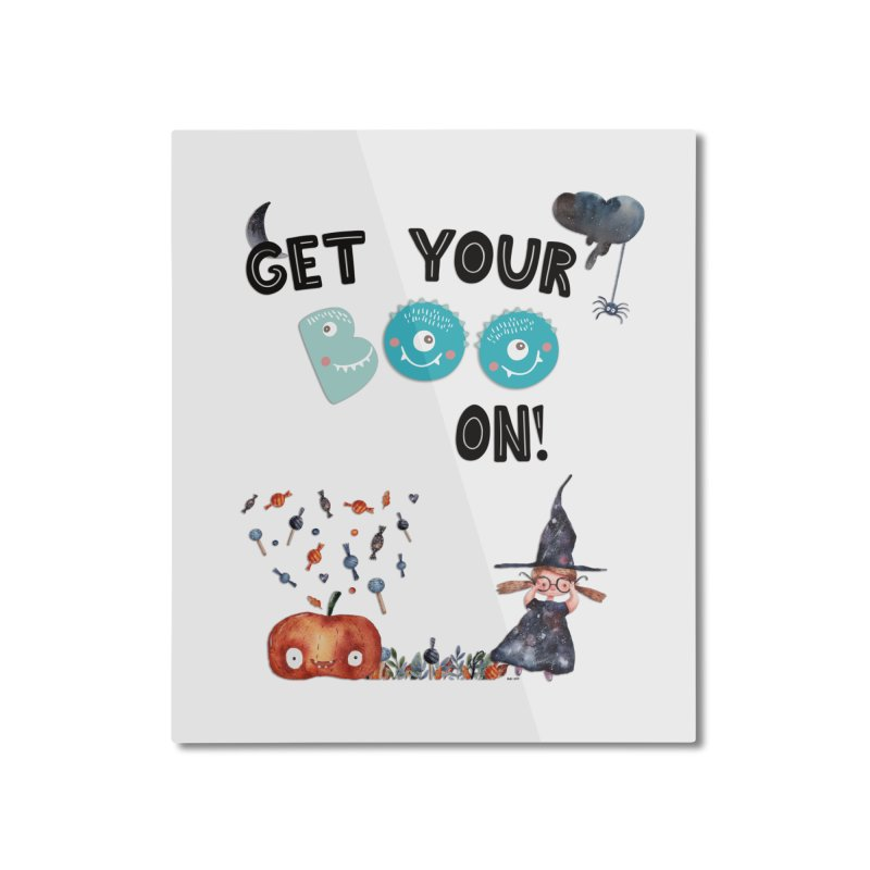 Get Your Boo On! Home Mounted Aluminum Print by Barbara Storey Digital Art