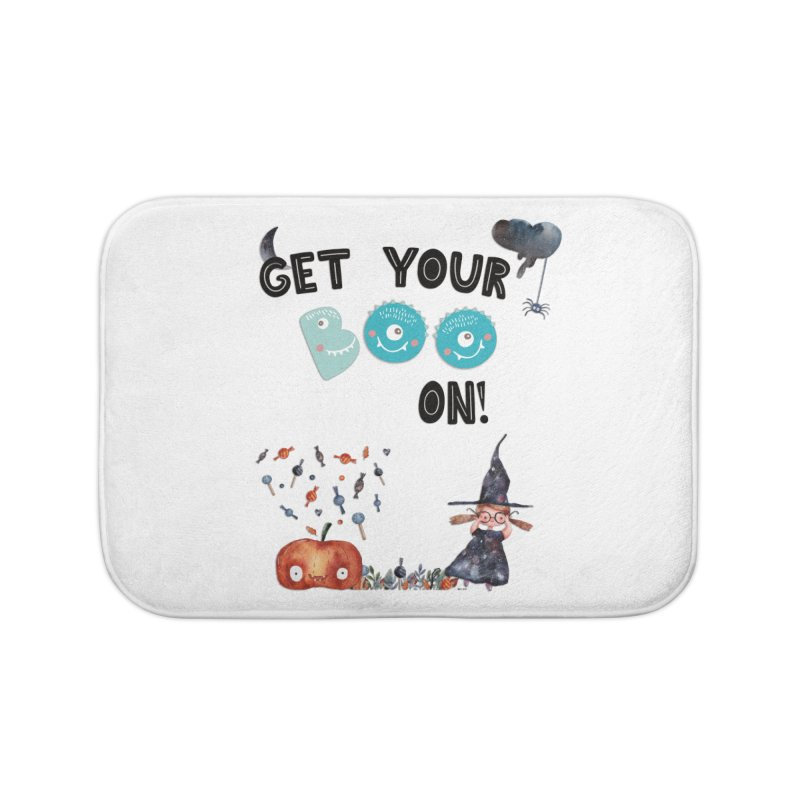 Get Your Boo On! Home Bath Mat by Barbara Storey Digital Art