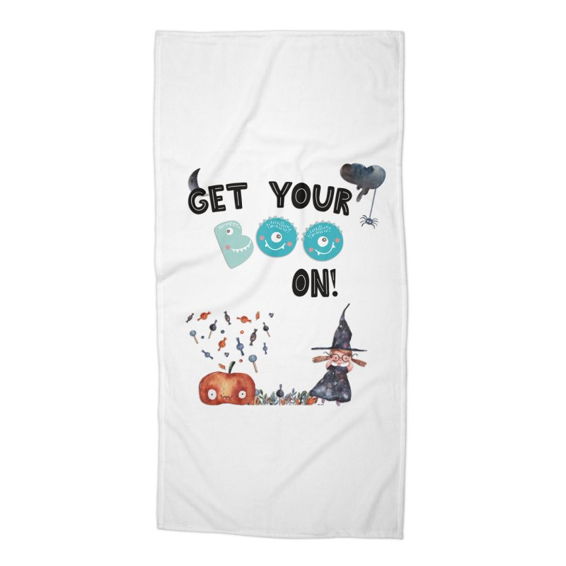 Get Your Boo On! Accessories Beach Towel by Barbara Storey Digital Art