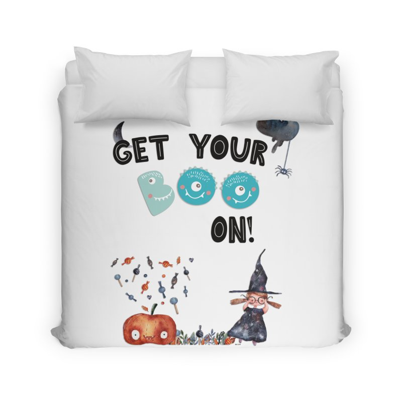 Get Your Boo On! Home Duvet by Barbara Storey Digital Art