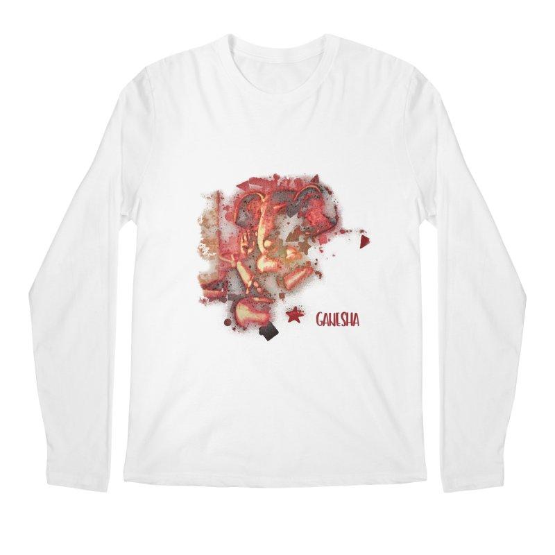 Red Ganesha Men's Longsleeve T-Shirt by Barbara Storey Digital Art