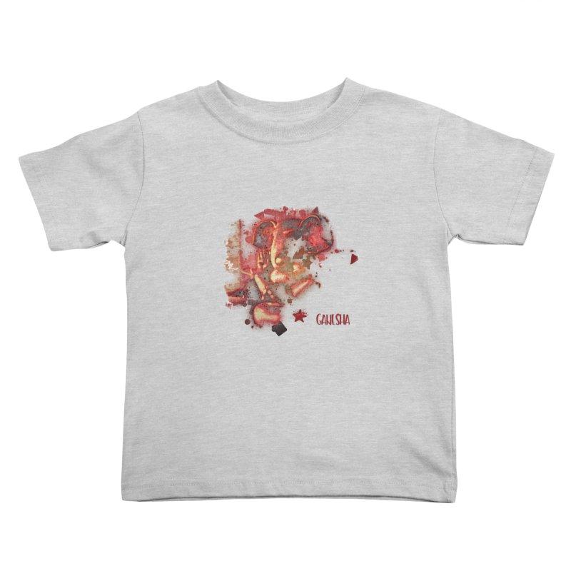 Red Ganesha Kids Toddler T-Shirt by Barbara Storey Digital Art