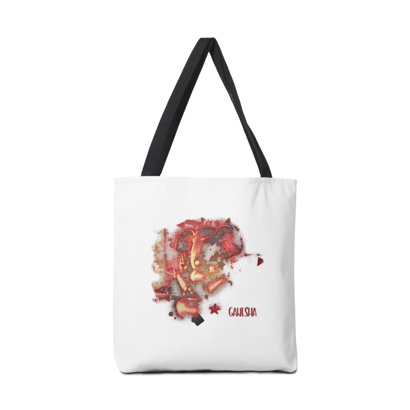 Red Ganesha Accessories Bag by Barbara Storey Digital Art