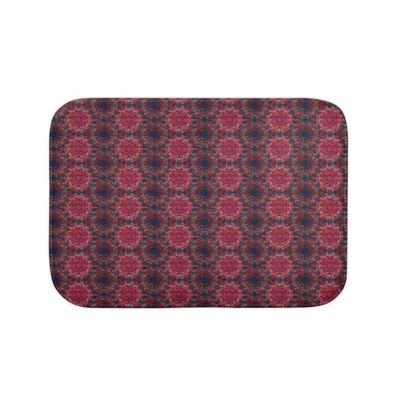 Midnight Scarlet Home Bath Mat by Barbara Storey Digital Art