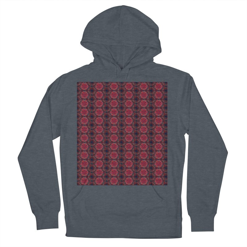 Midnight Scarlet Men's Pullover Hoody by Barbara Storey Digital Art