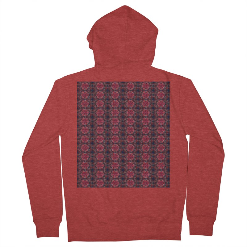 Midnight Scarlet Men's Zip-Up Hoody by Barbara Storey Digital Art