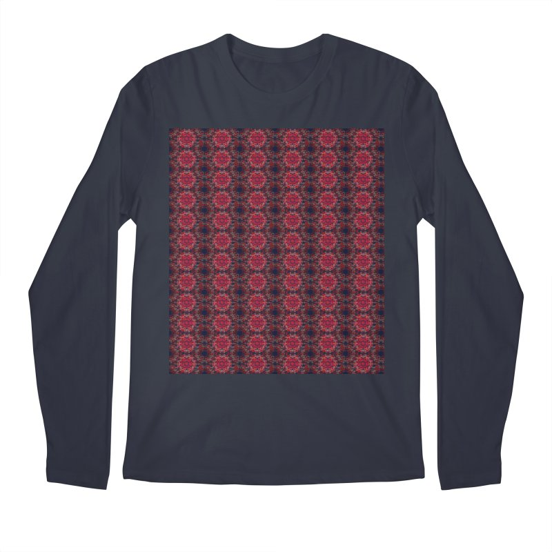 Midnight Scarlet Men's Longsleeve T-Shirt by Barbara Storey Digital Art