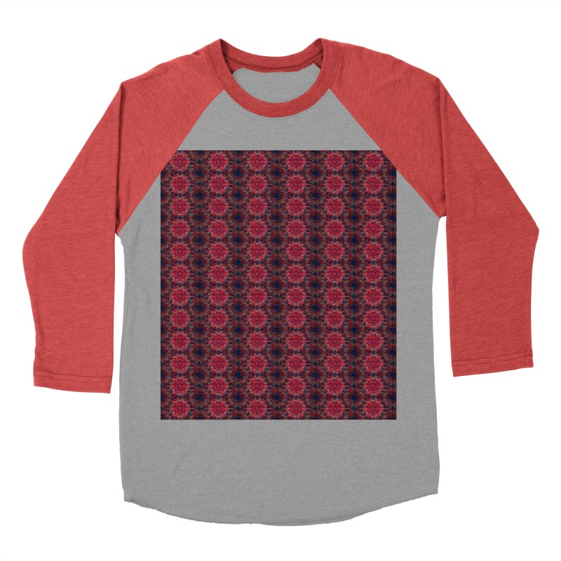 Midnight Scarlet Men's Baseball Triblend T-Shirt by Barbara Storey Digital Art