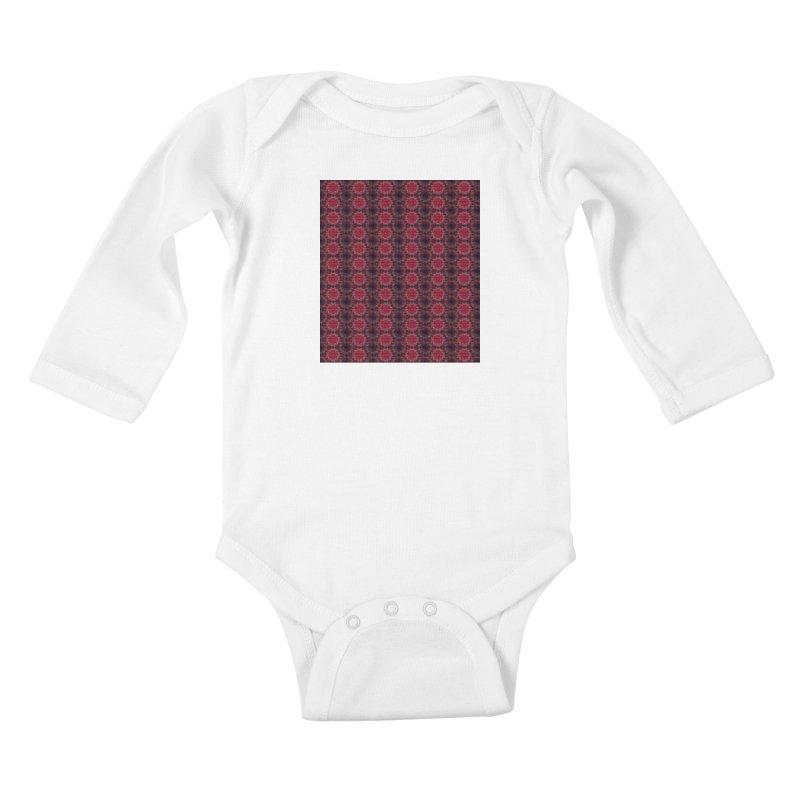 Midnight Scarlet Kids Baby Longsleeve Bodysuit by Barbara Storey Digital Art