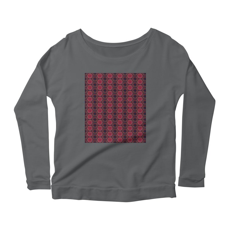 Midnight Scarlet Women's Longsleeve Scoopneck  by Barbara Storey Digital Art