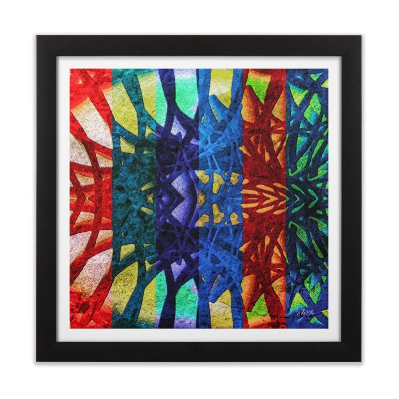 Rainbow Connections Home Framed Fine Art Print by Barbara Storey Digital Art