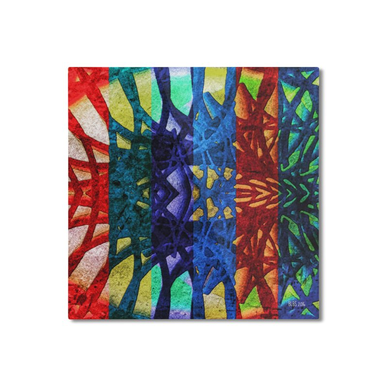 Rainbow Connections Home Mounted Aluminum Print by Barbara Storey Digital Art