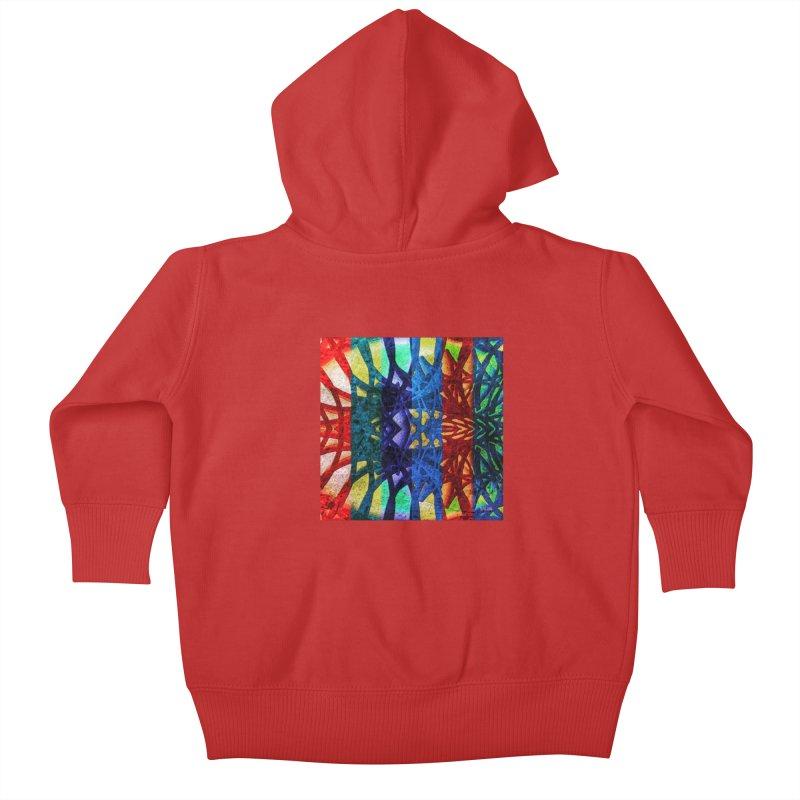 Rainbow Connections Kids Baby Zip-Up Hoody by Barbara Storey Digital Art