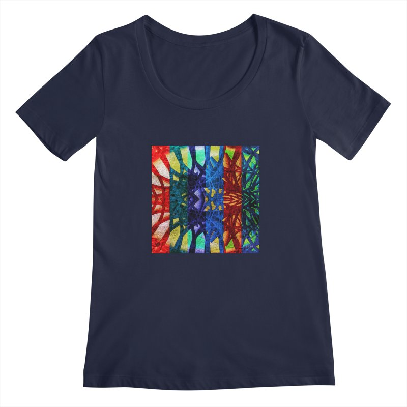 Rainbow Connections Women's Scoopneck by Barbara Storey Digital Art