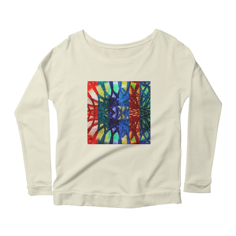 Rainbow Connections Women's Longsleeve Scoopneck  by Barbara Storey Digital Art