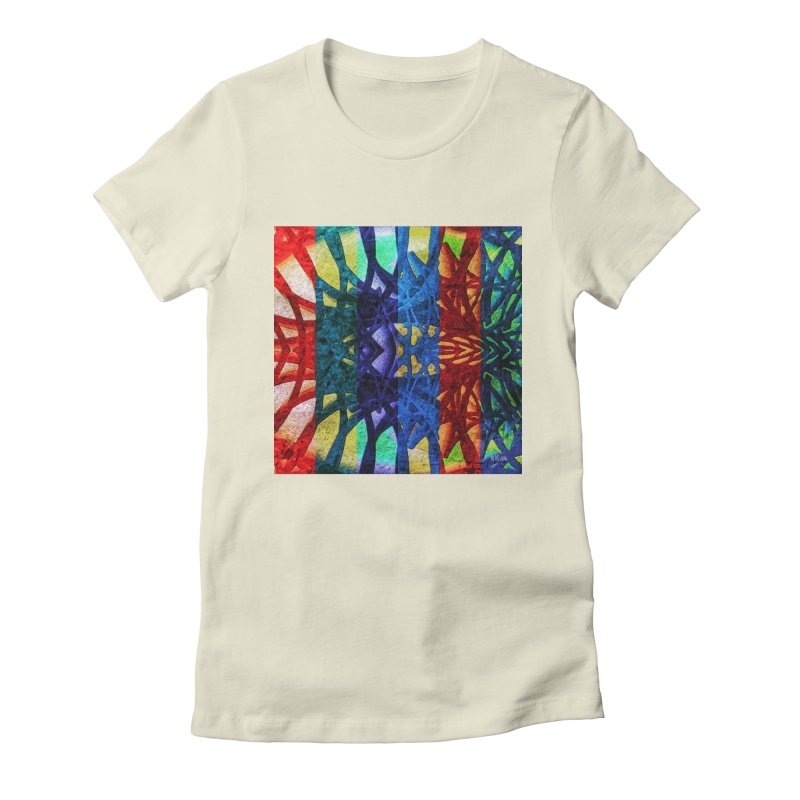 Rainbow Connections Women's Fitted T-Shirt by Barbara Storey Digital Art