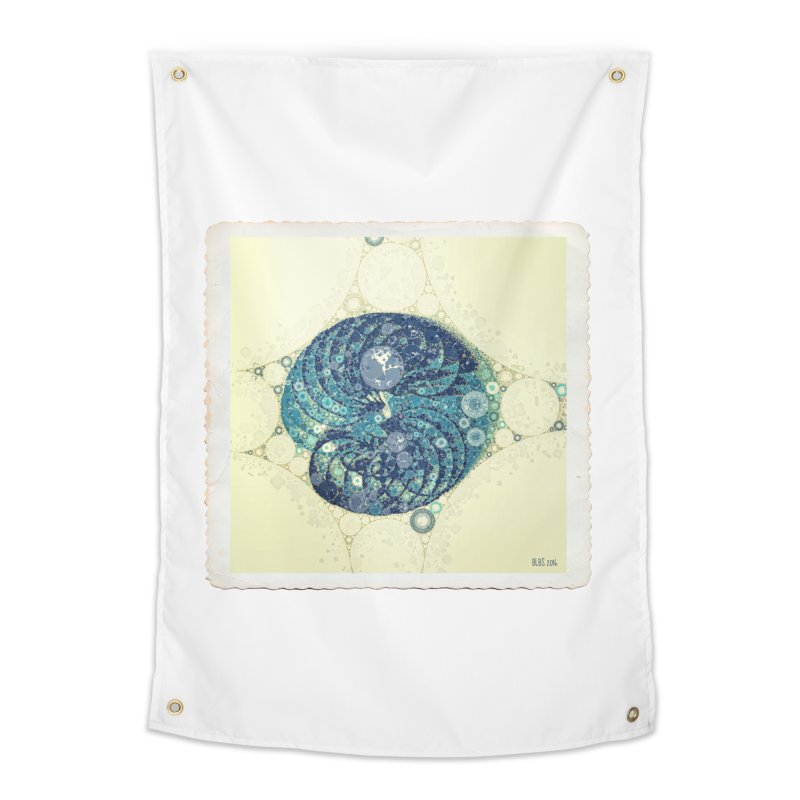 Blue Nautilus Home Tapestry by Barbara Storey Digital Art