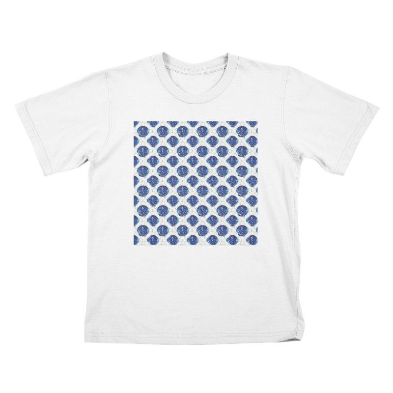 Blue Nautilus All-Over Print Kids T-Shirt by Barbara Storey Digital Art