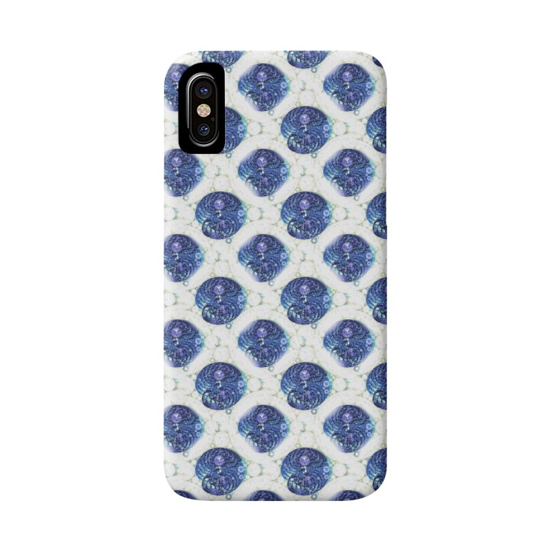 Blue Nautilus All-Over Print Accessories Phone Case by Barbara Storey Digital Art