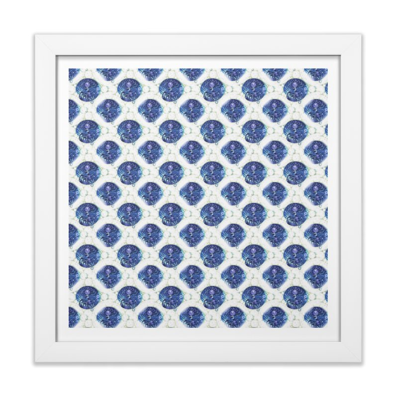 Blue Nautilus All-Over Print Home Framed Fine Art Print by Barbara Storey Digital Art