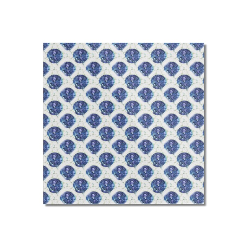 Blue Nautilus All-Over Print Home Mounted Acrylic Print by Barbara Storey Digital Art