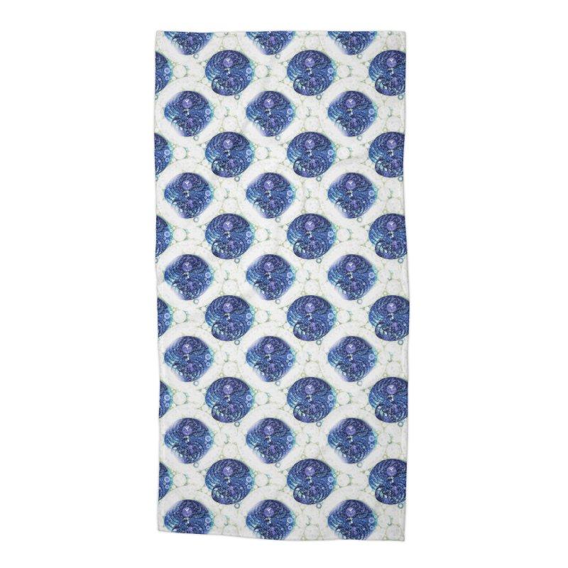 Blue Nautilus All-Over Print Accessories Beach Towel by Barbara Storey Digital Art