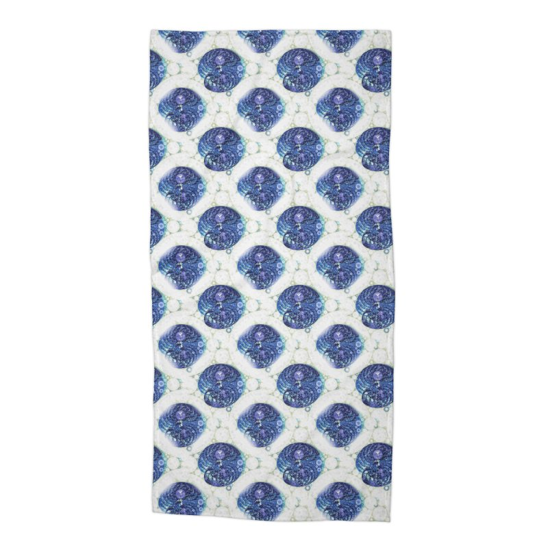 Blue Nautilus All-Over Print Accessories Beach Towel by Barbara Storey Digital Art