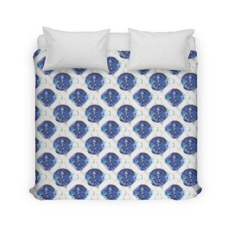 Blue Nautilus All-Over Print Home Duvet by Barbara Storey Digital Art