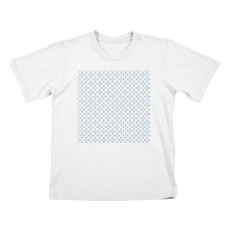 Delft Lace Kids T-Shirt by Barbara Storey Digital Art