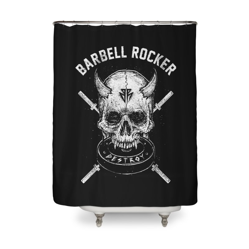 Even more evil Home Shower Curtain by Barbell Rocker's Artist Shop