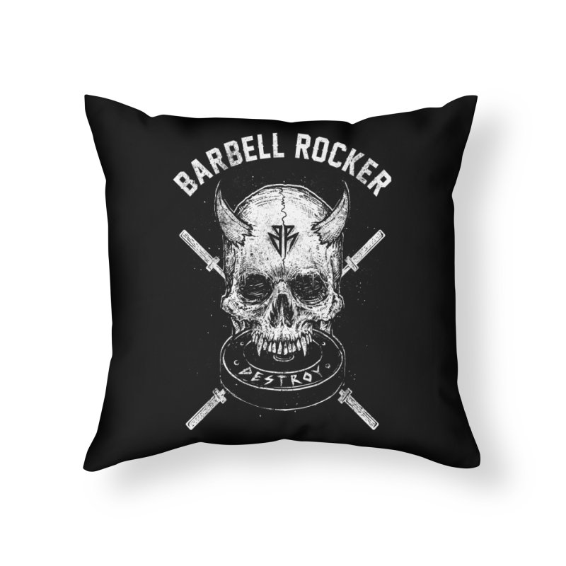 Even more evil Home Throw Pillow by Barbell Rocker's Artist Shop