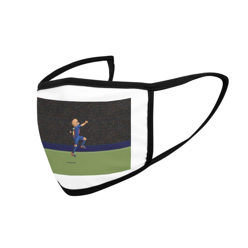 Iniesta's last final - Pixel Art Accessories Face Mask by BM Design Shop