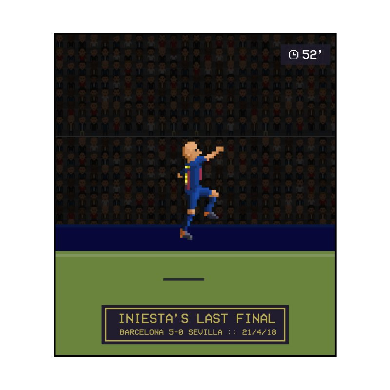 Iniesta's last final - Pixel Art Accessories Skateboard by BM Design Shop
