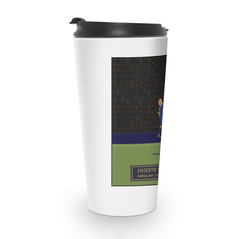 Iniesta's last final - Pixel Art Accessories Mug by BM Design Shop