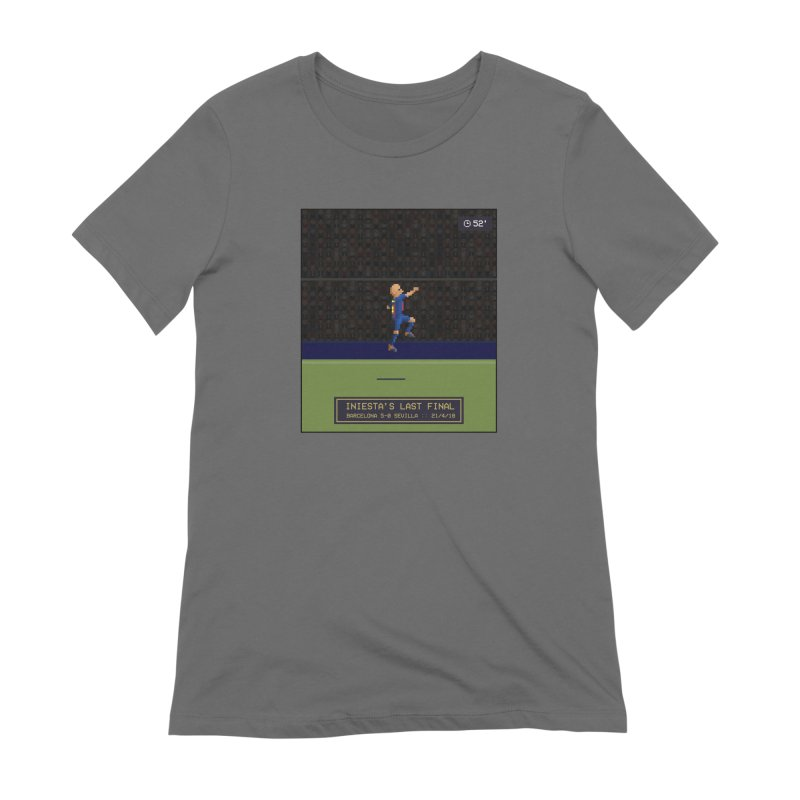 Iniesta's last final - Pixel Art Women's T-Shirt by BM Design Shop