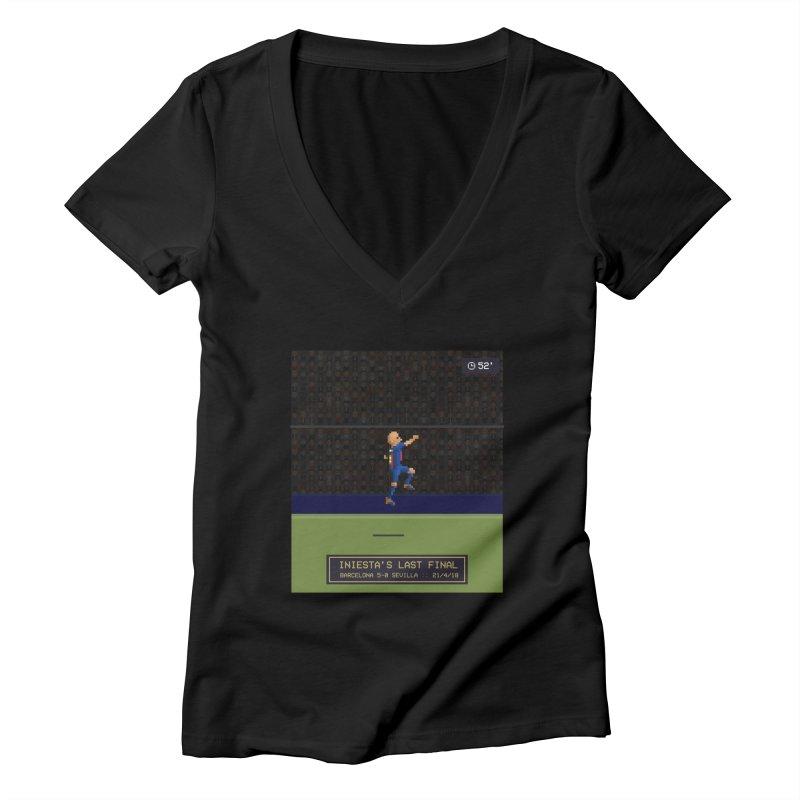 Iniesta's last final - Pixel Art Women's V-Neck by BM Design Shop
